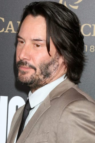 Keanu Reeves patchy mustache