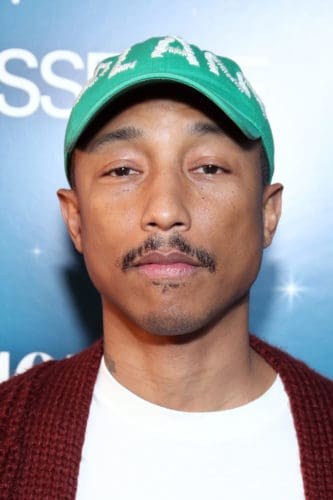 Pharrell Williams patchy mustache.