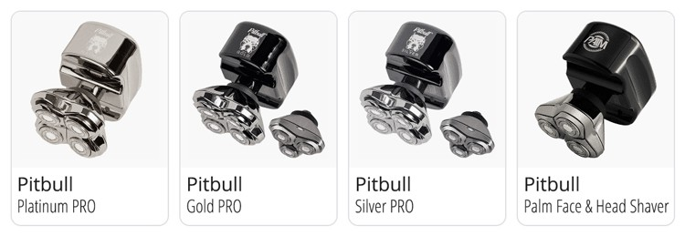 Pitbull Skull Shaver product line of bald shavers