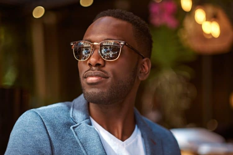 Portrait of confident businessman in sunglasses