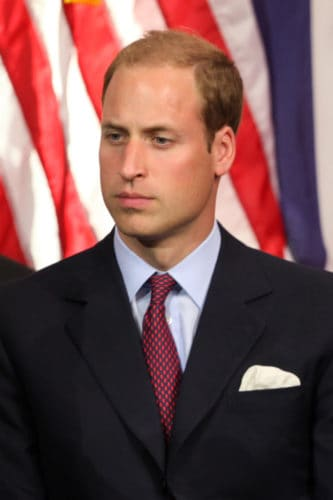 Prince William slight receding hair.