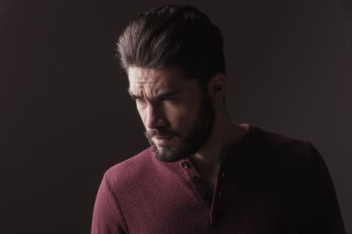 Medium Men's Hairstyle with Beard