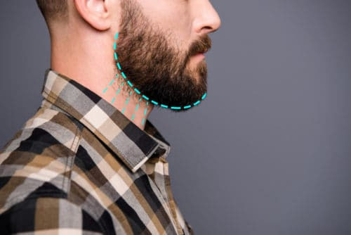 Where Should You Stop Shaving Neckline? See our diagram.