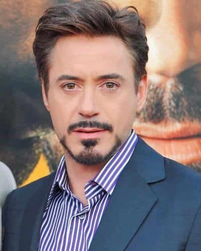 The Tony Stark goatee has a perfect hourglass style on the chin.