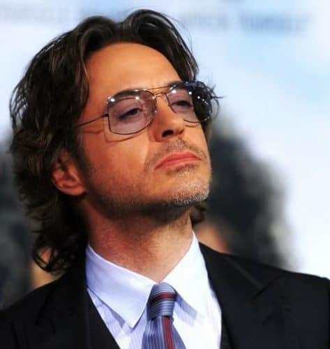 RDJ with long hairstyle