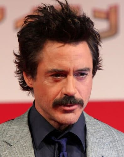 Robert Downey Jr grows a Mustache over his movie goatee
