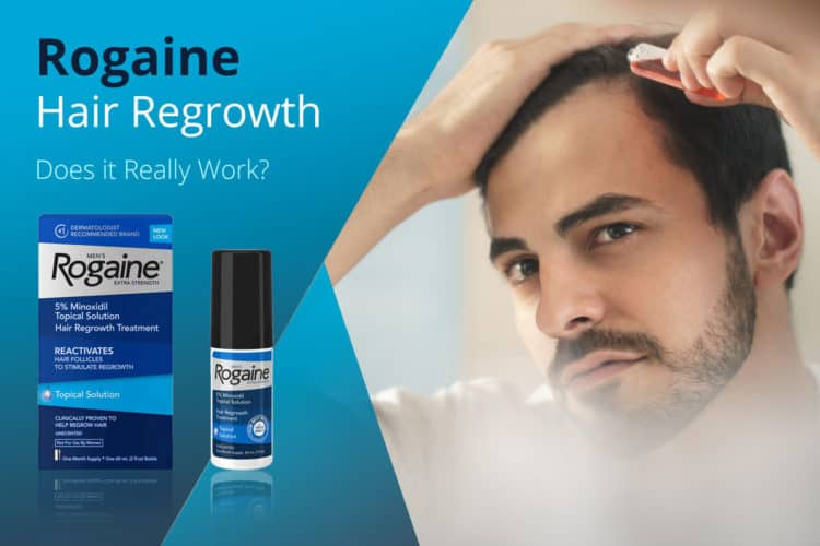 Rogaine Minoxidil hair growth treatment