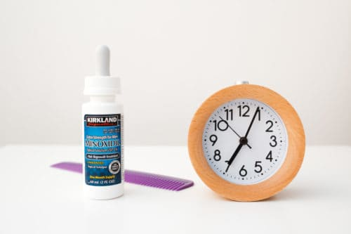 Minoxidil takes time to works and differs for each situation.