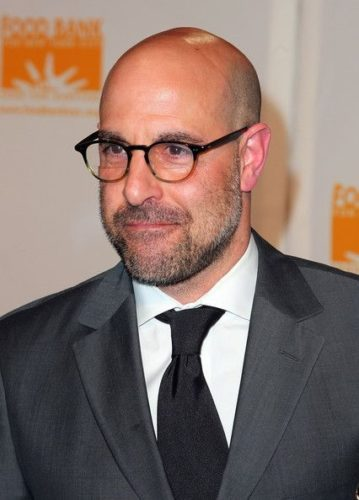 Stanley Tucci looking sharp with Round Mid-century Two-tone Glasses