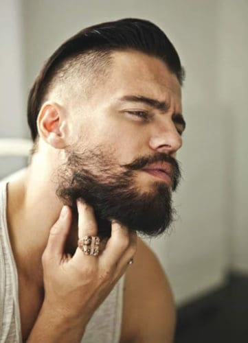 Rugged Beard with Longer Neckline