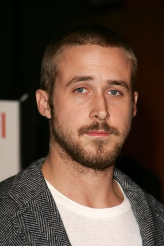Ryan Gosling scruffy neck beard looks ultra trendy