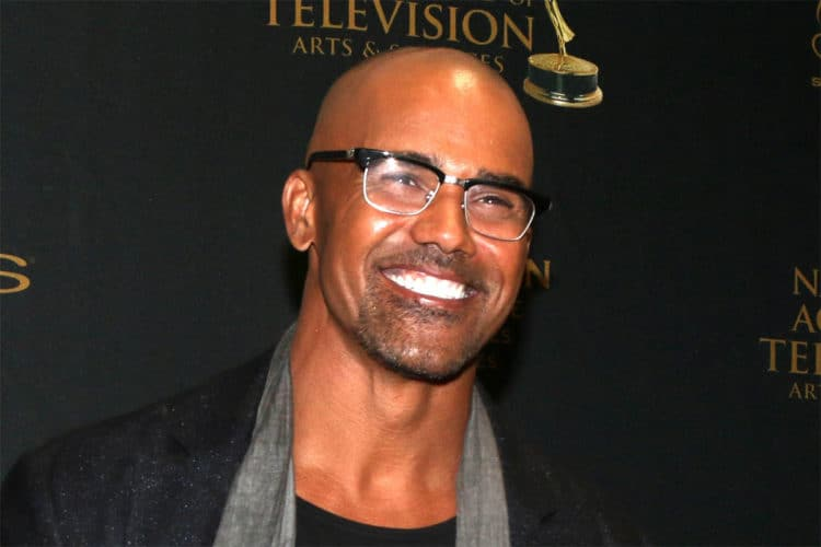 Shemar Moore looking great bald