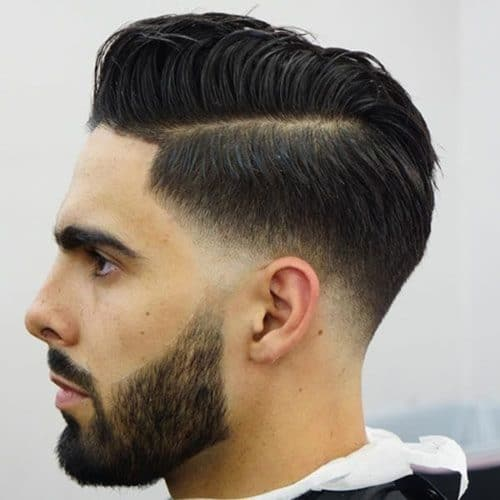 temp fade with side part