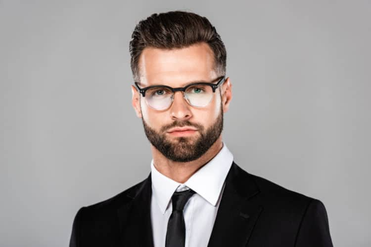 Bearded square faces need Oval or Round Frames glasses