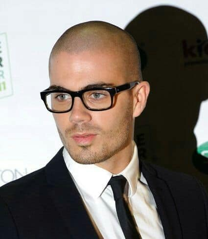 Rectangular Black Frames pair well with a shaved head