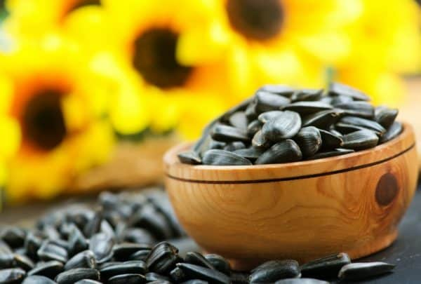 Sunflower seeds with lots of vitamin E.