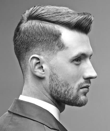 taper fade haircut with comb over
