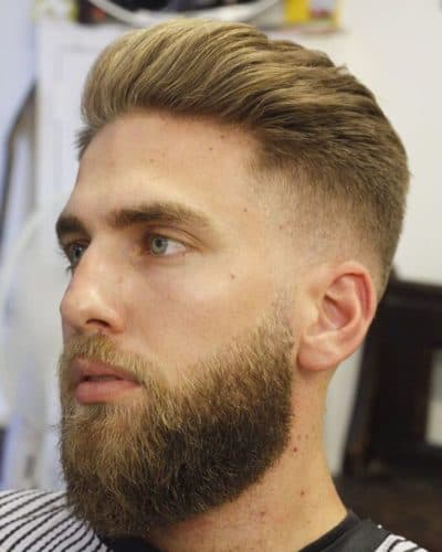 Taper Fade with a full beard