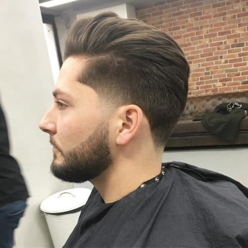 taper with pompadour