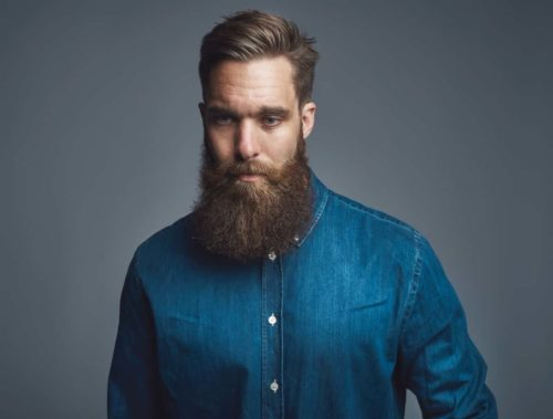 This yeard beard has excellent length and density.