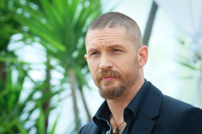 Tom Hardy buzz cut hairstyle and beard
