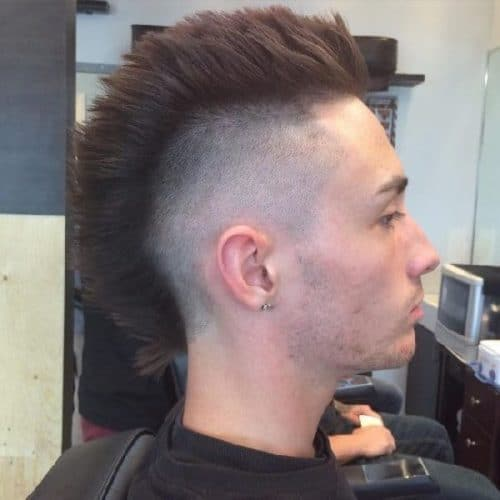 traditional mohawk with fade