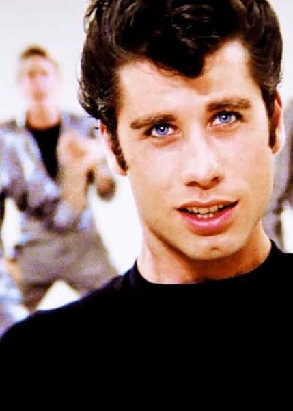 Travolta with hair and Before Balding