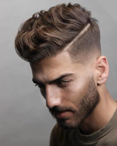 Undercut with Quiff and a Hard Part