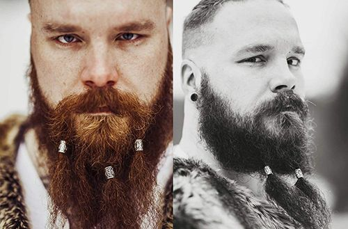 Viking beard rings