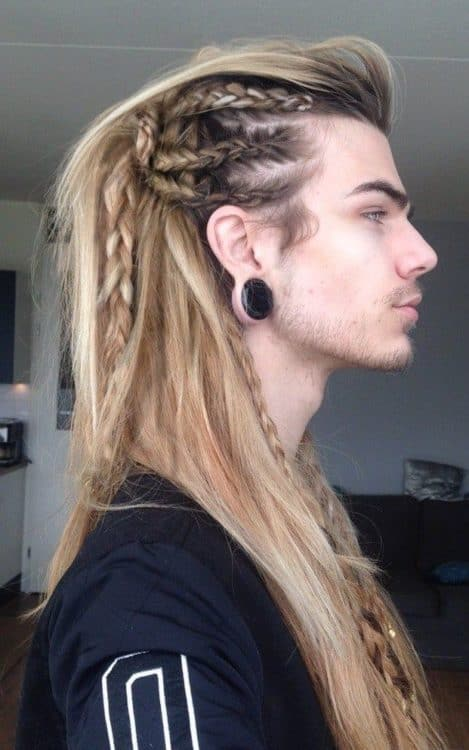 Intricate braid patterns for a unique Viking style.