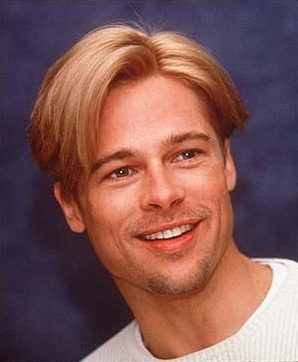 Brad Pitt smooth shave with light stubble