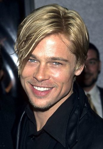 Young Brad Pitt with stubble beard