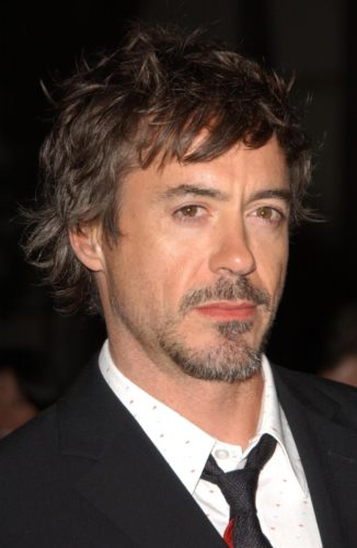 RDJ with messy hair