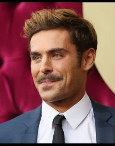Zac Efron bad mustache look